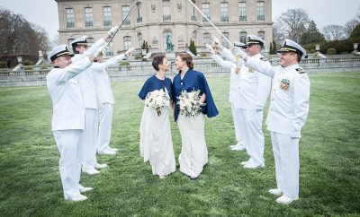 newport wedding, lgbt, wedding, newport ri, rotc, brides